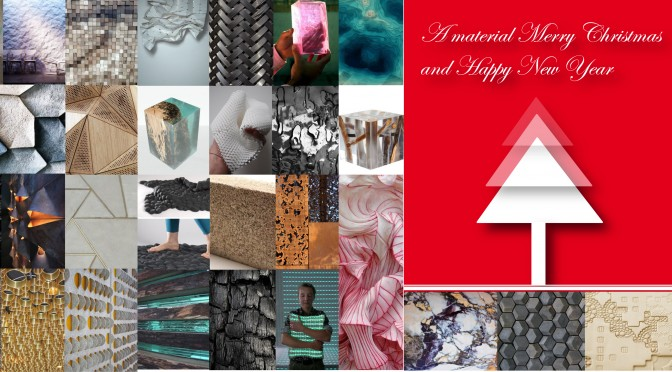 A material Merry Christmas and Happy New Year